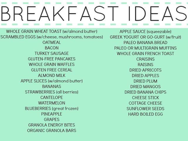 List Of Healthy Breakfast  HEALTHY MEALS AND SNACKS FOR YOUR TODDLERS AND KIDS