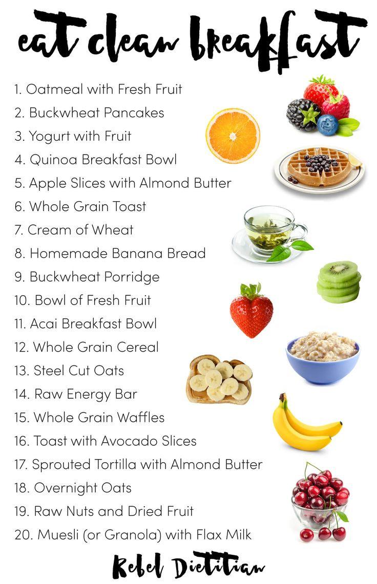 List Of Healthy Breakfast  25 best ideas about Clean breakfast on Pinterest
