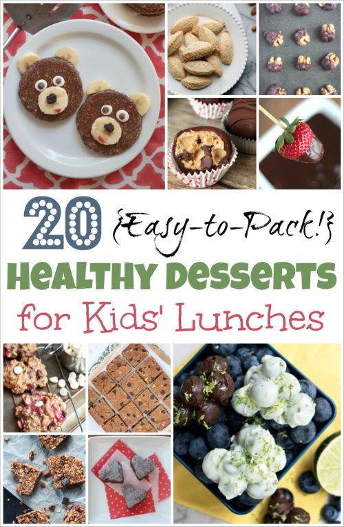 List Of Healthy Desserts  20 Easy to Pack Healthy Desserts for Kids Lunches Two