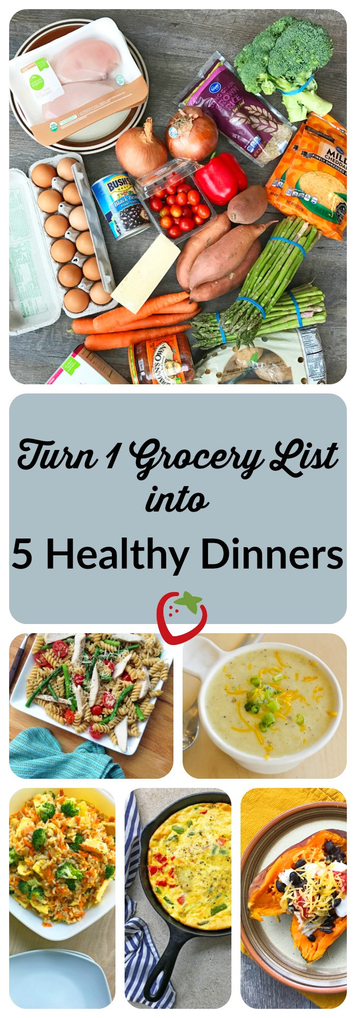 List Of Healthy Dinners  Turn e Grocery List into Five Healthy Dinners
