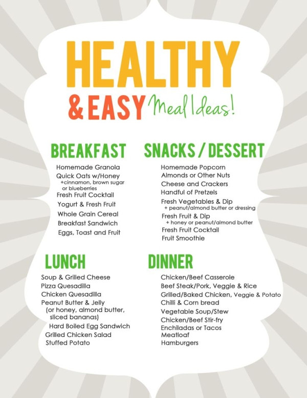 List Of Healthy Dinners the 20 Best Ideas for Easy & Healthy Meal Ideas List for Meal Planning