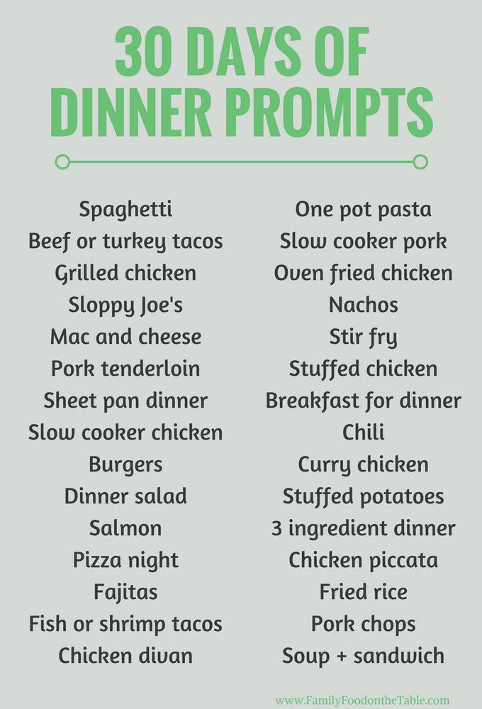 List Of Healthy Dinners  30 easy healthy family dinner ideas Family Food on the Table