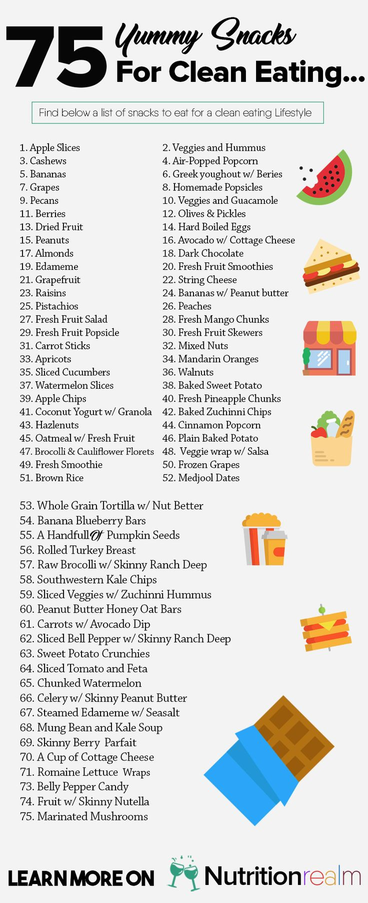 List Of Healthy Snacks  17 Best ideas about Healthy Snacks on Pinterest