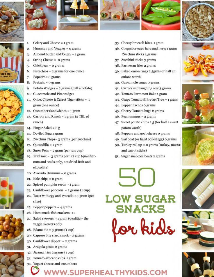 List Of Healthy Snacks For Diabetics  50 Low Sugar Snacks for Kids Healthy Living