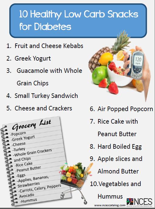 List Of Healthy Snacks For Diabetics  Diabetic Snacks List to Pin on Pinterest PinsDaddy