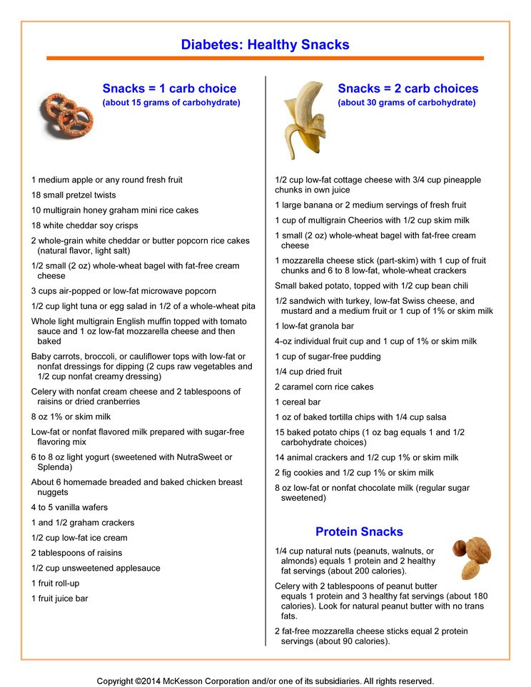 List Of Healthy Snacks For Diabetics  Summit Medical Group