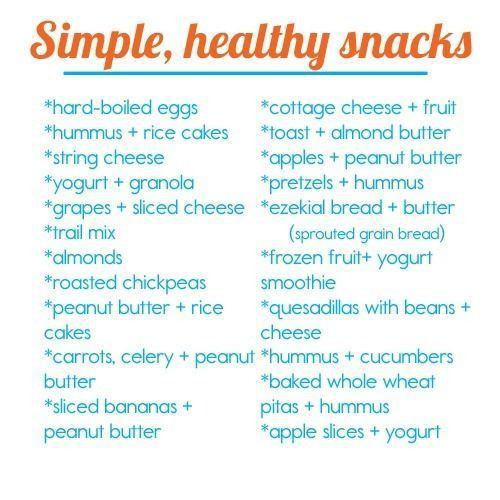 List Of Healthy Snacks  Healthy Snacks for Kids for Work for School for Weight