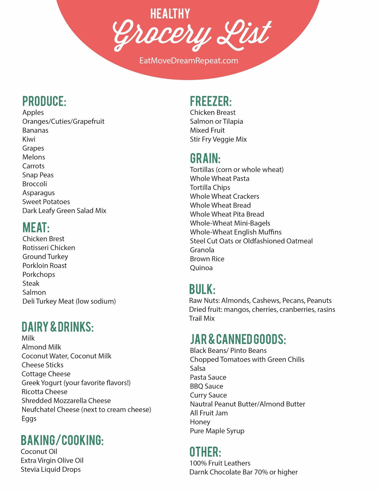 List Of Healthy Snacks  Healthy Healthy Food List