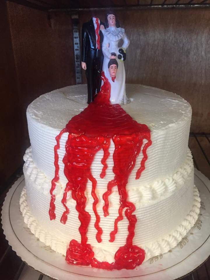 Local Wedding Cakes Bakeries  Divorce cake from a local bakery via r funny