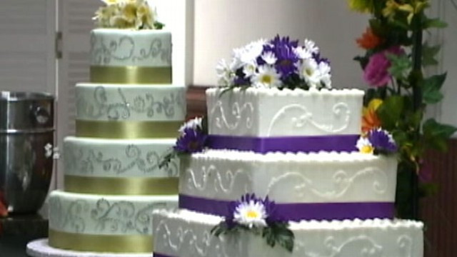 Local Wedding Cakes Bakeries  Wedding Cakes From Your Local Supermarket Video ABC News