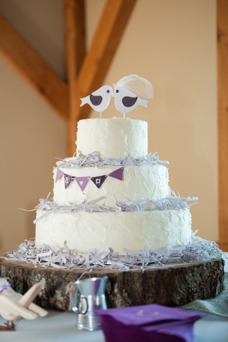 Love Birds Wedding Cakes  Rustic love birds wedding cake