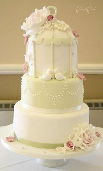 Love Birds Wedding Cakes  Stunning Love Birds theme Wedding Cake wedding cakes
