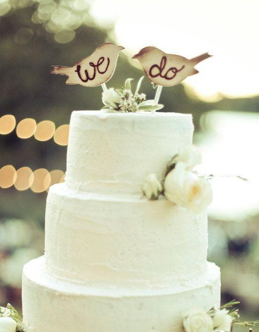Love Birds Wedding Cakes  Cake Topper Love Birds Rustic Wedding Decor item E