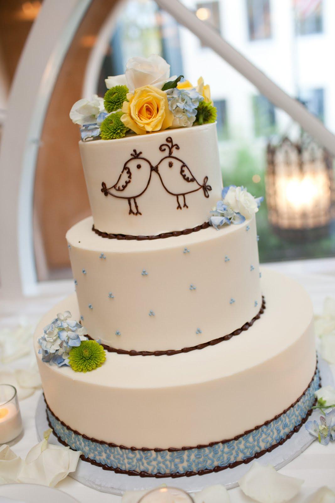 Love Birds Wedding Cakes  31 Days of Weddings Day 27 Love Birds Theme