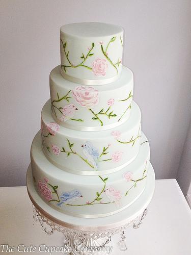 Love Birds Wedding Cakes  Wedding Cakes Love Birds Wedding Cake Weddbook
