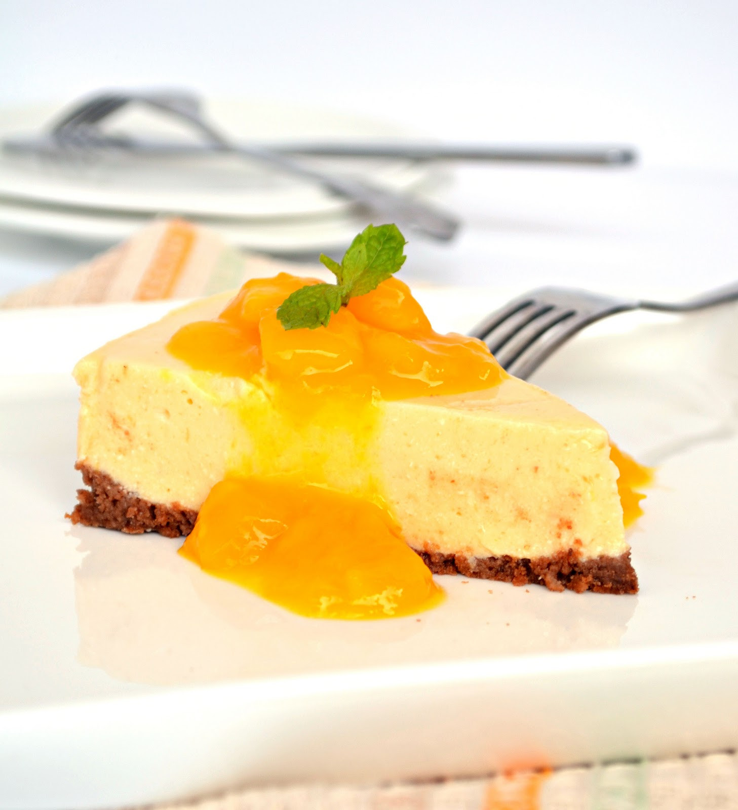 Low Calorie Summer Desserts  Mango Cheesecake Low Calorie