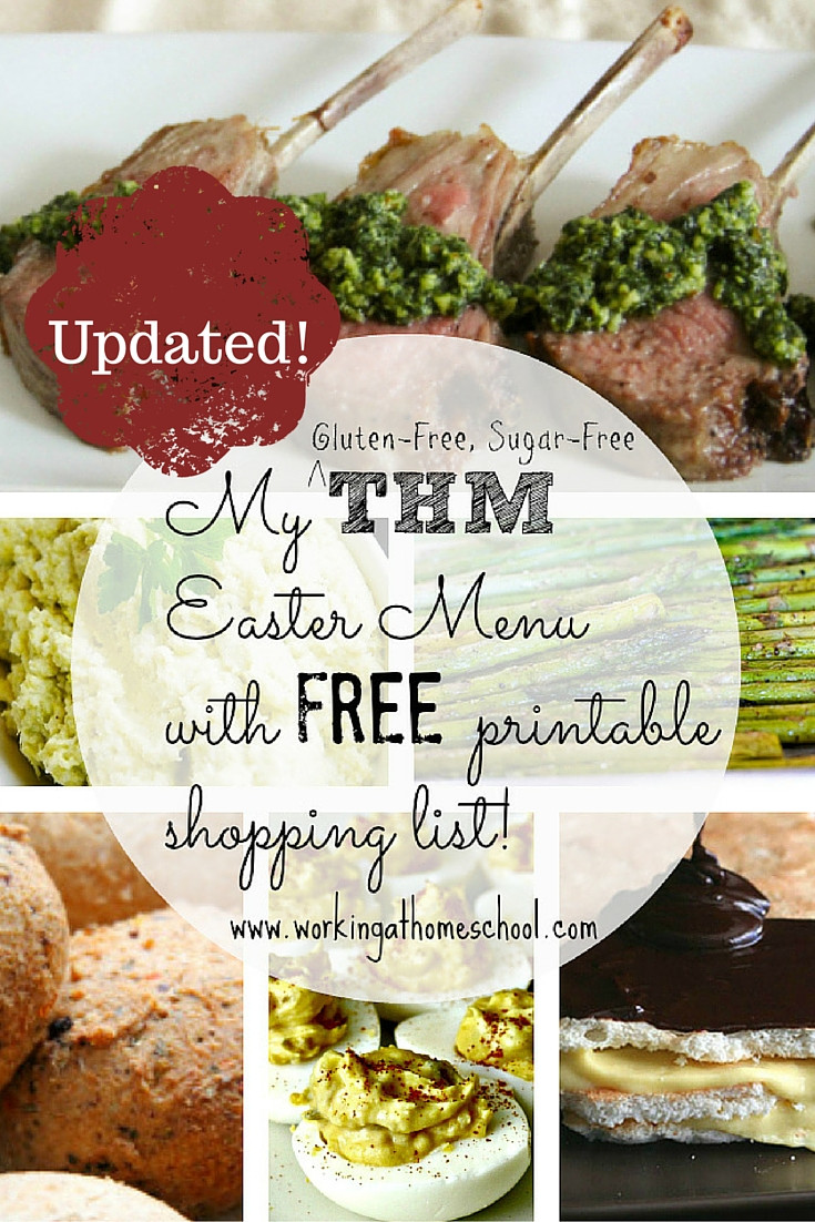 Low Carb Easter Dinner  THM Gluten Free Sugar Free Easter Menu with printable