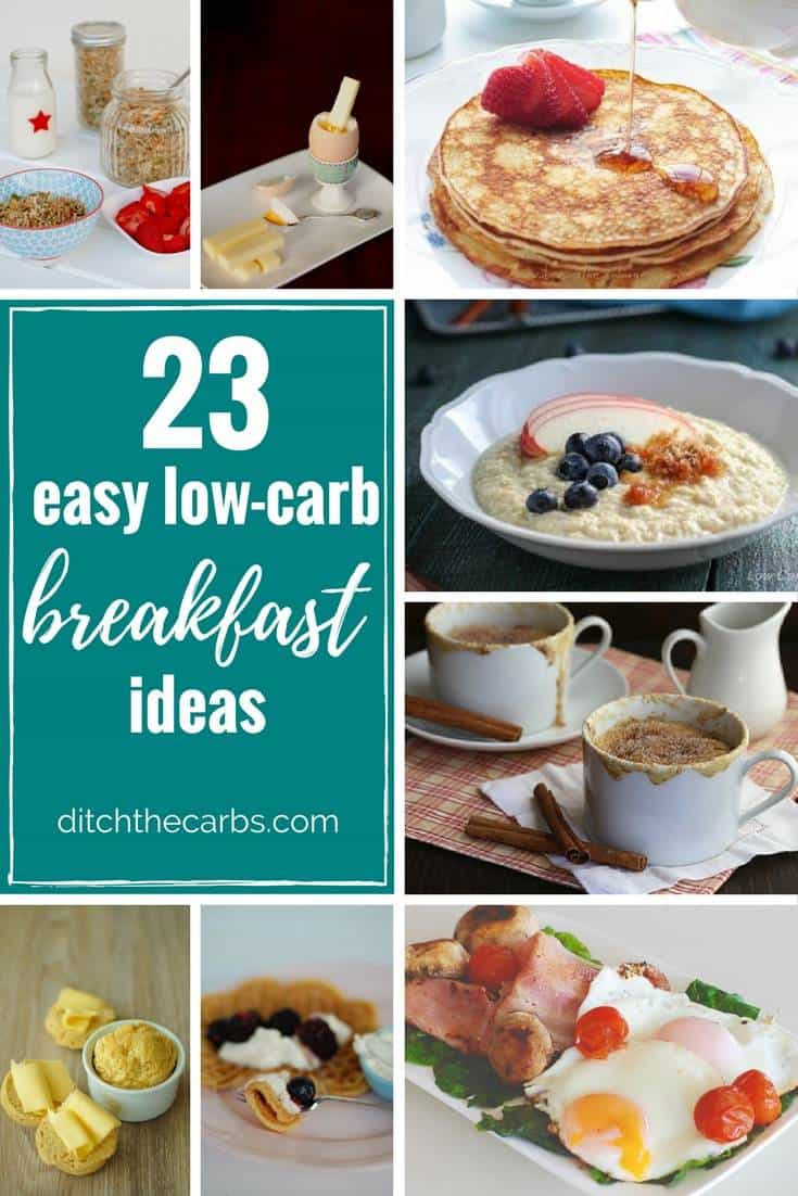 Low Carb Healthy Breakfast  23 Easy Low Carb Breakfast Ideas easy quick and sugar