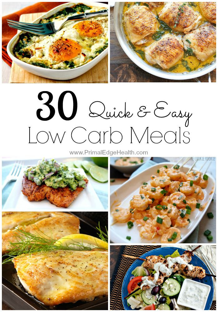 Low Carb Healthy Dinners  30 Quick & Easy Low Carb Meals Primal Edge Health