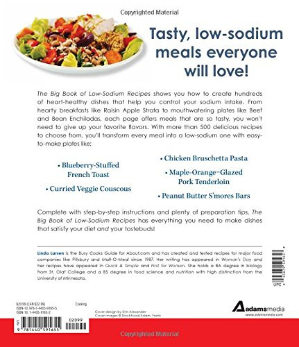 Low Sodium Heart Healthy Recipes  The Big Book Low Sodium Recipes More Than 500