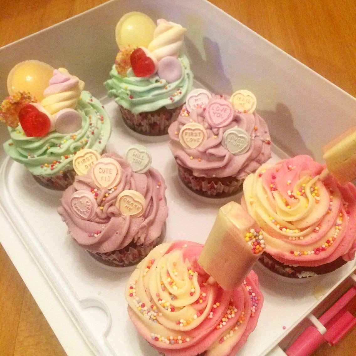 Lowes Foods Wedding Cakes  Tuck shop cupcakes lovehearts sweeties drumsticks