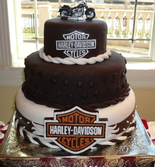 Lowes Foods Wedding Cakes  Harley Davidson Cake Pastries with Bling