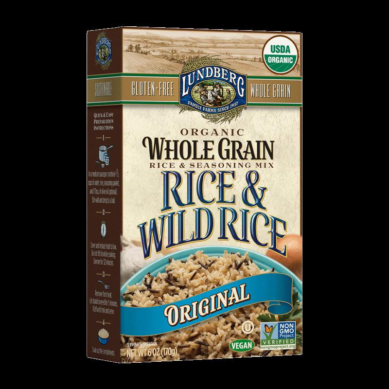 Lundberg Organic Wild Rice  ORGANIC WHOLE GRAIN & WILD RICE – ORIGINAL