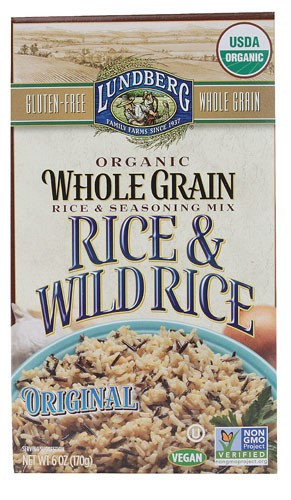 Lundberg Organic Wild Rice  Lundberg Organic Whole Grain Rice & Wild Rice Original 6