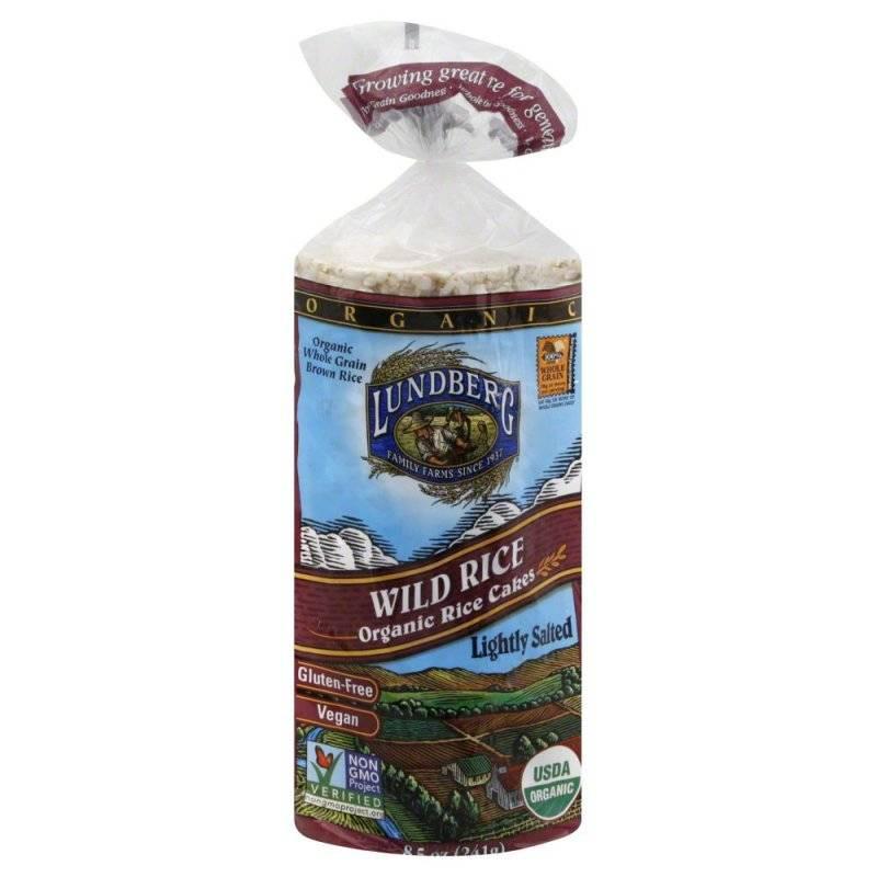Lundberg Organic Wild Rice  Lundberg Farms Organic Salted Wild Rice Cakes 6 oz 6 Pack