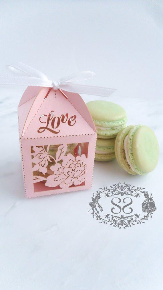 Macaroons Wedding Favors  Wedding Favors Macaron Favor Wedding Love Favor Box and 2