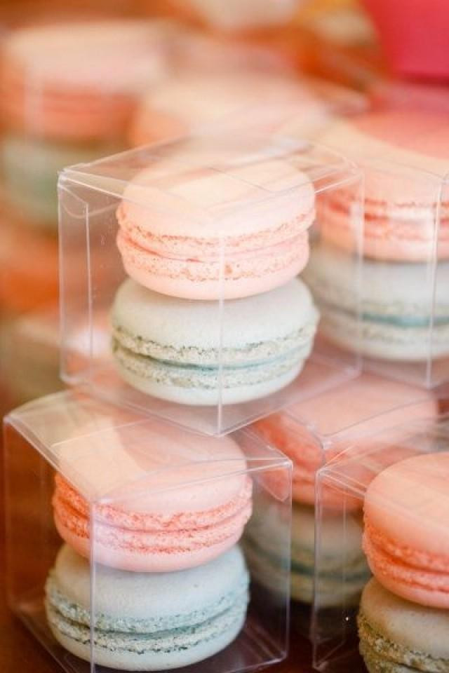 Macaroons Wedding Favors  Pantone colour of the Year 2016 Rose Quartz & Serenity