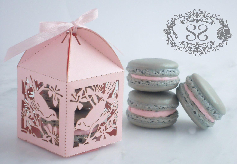 Macaroons Wedding Favors  Wedding Favor Macaron Favor Song Bird Wedding Favor Box and