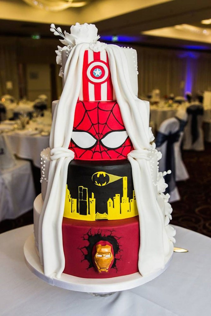 Mail Order Wedding Cakes  Wedding Cake Cute Batman Wedding Cake For Unusual Wedding