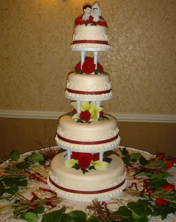 Mail Order Wedding Cakes  KG Bakery Wedding Cakes