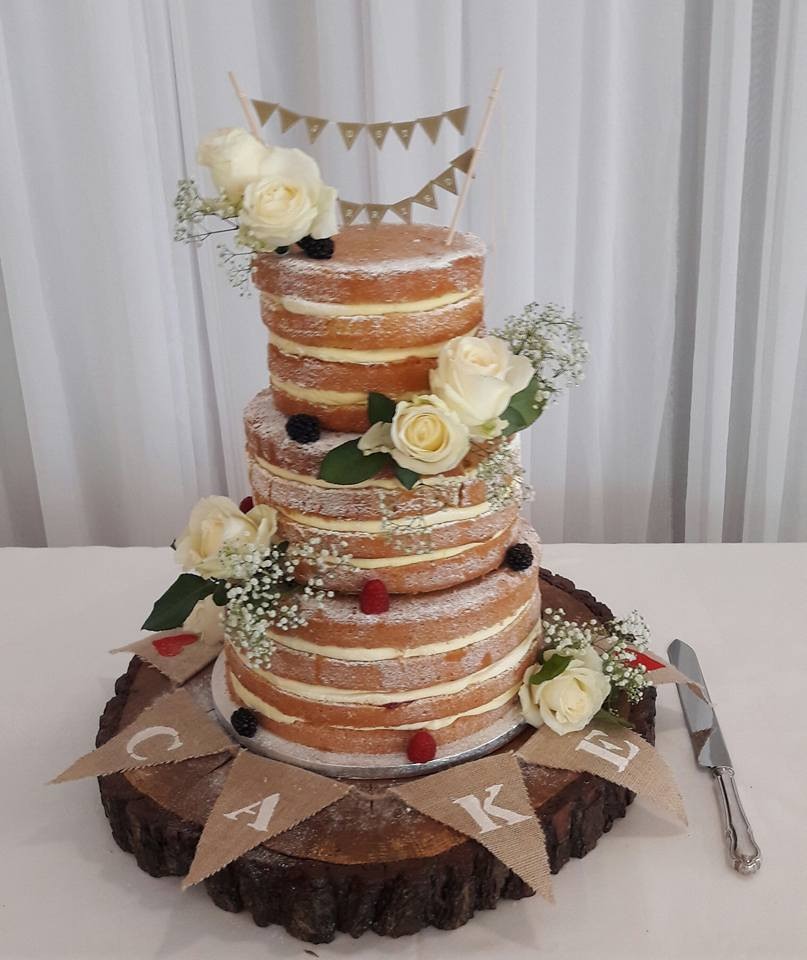 Mail Order Wedding Cakes  Naked Wedding Cake PuttyCakes