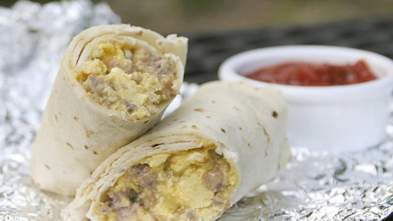 Make Ahead Breakfast Burritos For Camping  Camping Breakfast Burritos recipe from Betty Crocker