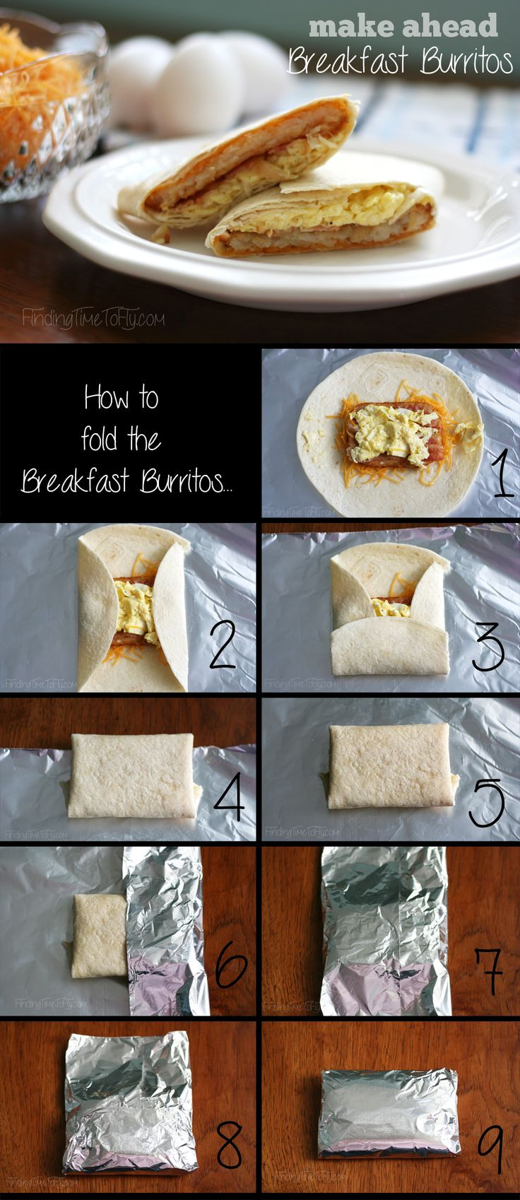 Make Ahead Breakfast Burritos For Camping  15 best Camping Food and Hacks images on Pinterest