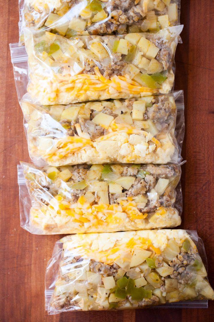 Make Ahead Breakfast Burritos For Camping  Make Ahead Breakfast Burrito Pouches Recipe