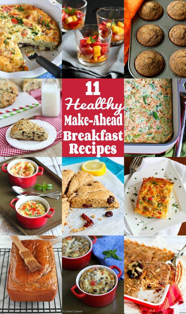 Make Ahead Breakfast Healthy  11 Healthy Make Ahead Breakfast Recipes Cookin Canuck
