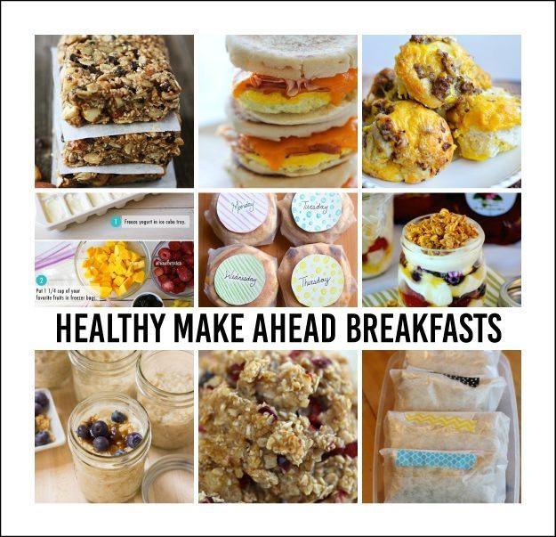 Make Ahead Breakfast Healthy  Healthy Make Ahead Breakfasts
