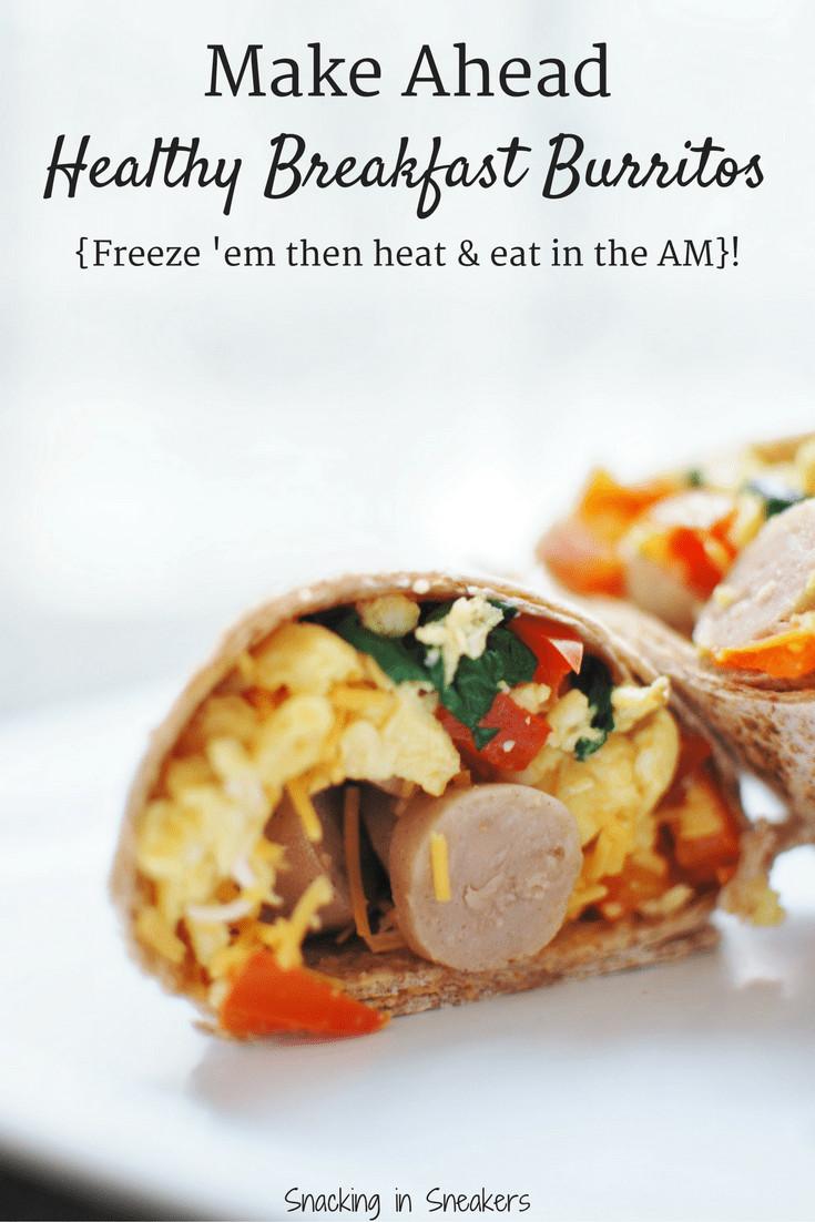 Make Ahead Breakfast Healthy  Make Ahead Breakfast Burritos Easy Cheap & Healthy