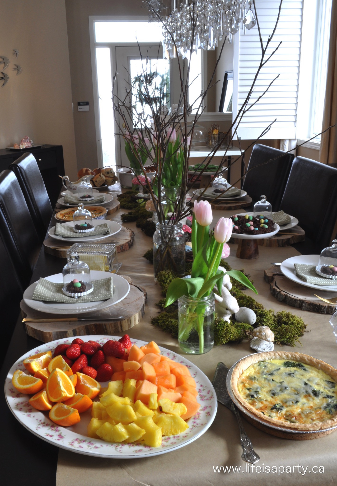 Make Ahead Easter Dinner  Spring Woodland Easter Brunch Life is a Party