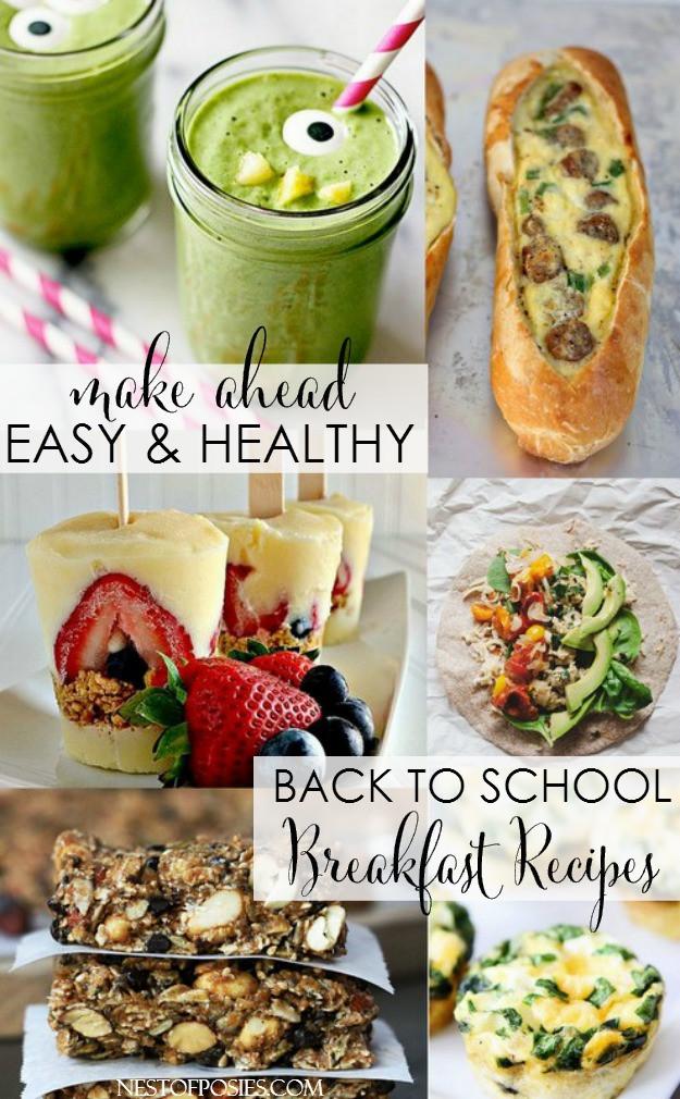 Make Ahead Healthy Breakfast  Back to School Breakfast Recipes and Ideas