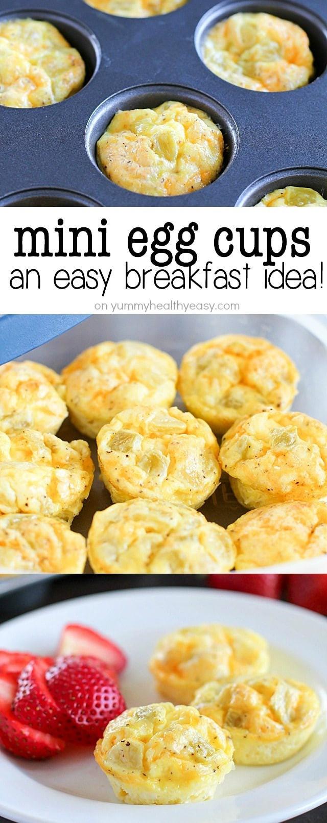 Make Ahead Healthy Breakfast  Mini Egg Cups A Healthy Make Ahead Breakfast Yummy