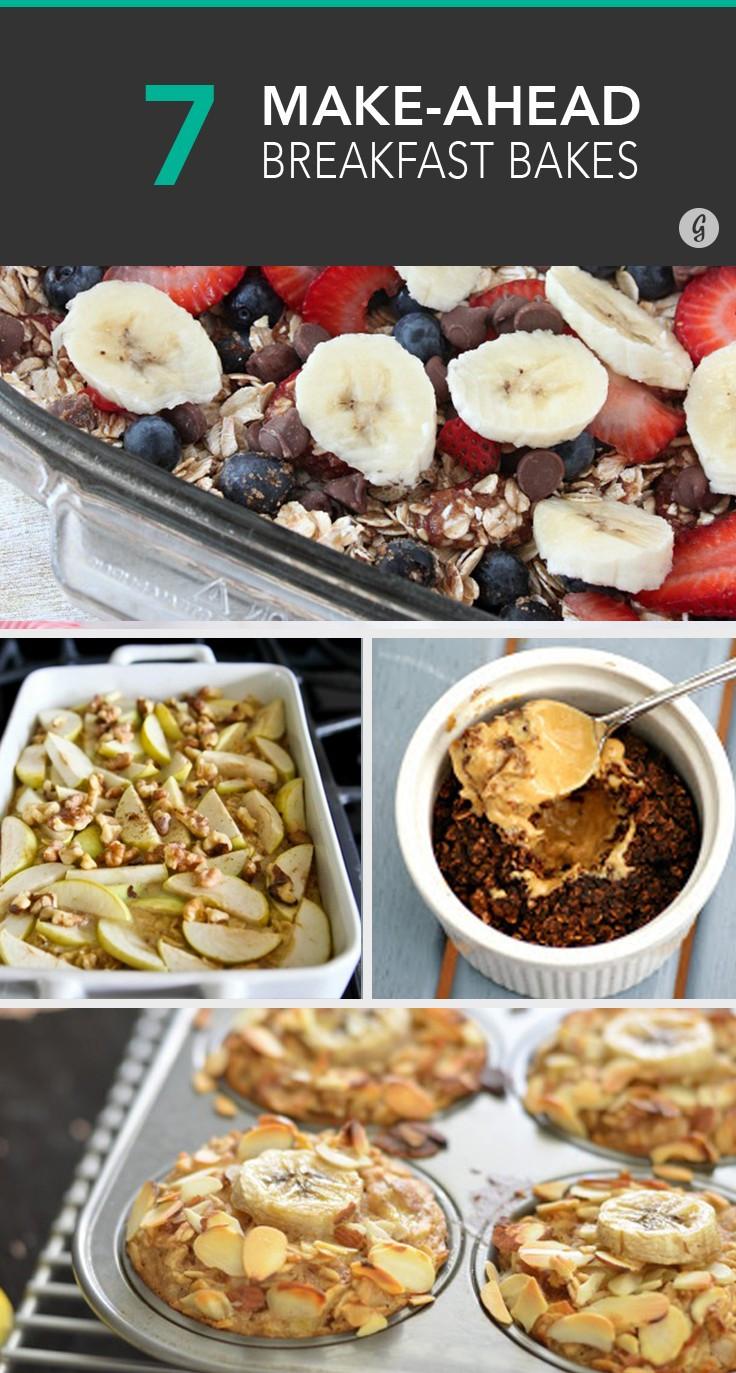 Make Ahead Healthy Breakfast  Baked oatmeal Make ahead breakfast and Casseroles on
