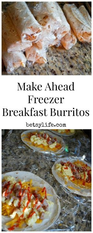 Make Ahead Healthy Breakfast Burritos  Meal recipes Make ahead meals and Back to school on Pinterest