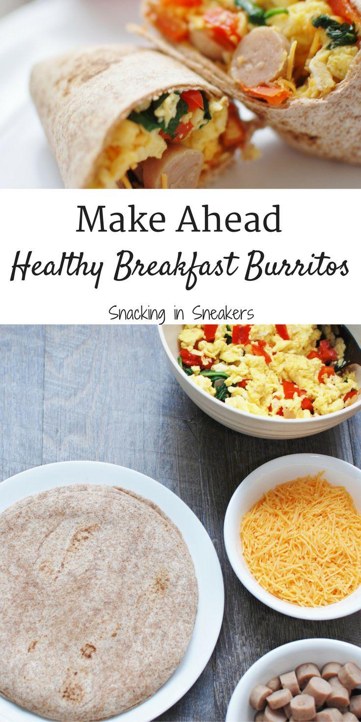 Make Ahead Healthy Breakfast Burritos  The 25 best Healthy breakfast burritos ideas on Pinterest