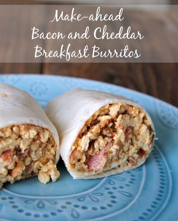 Make Ahead Healthy Breakfast Burritos  282 best images about Healthy Breakfast Recipes on Pinterest