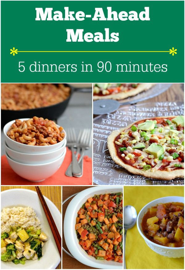 Make Ahead Healthy Dinners  15 best Quick & Healthy Dinners images on Pinterest