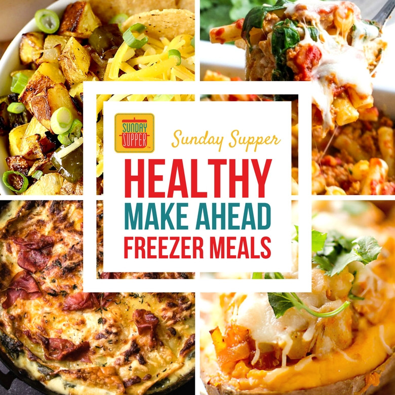 Make Ahead Healthy Dinners  Healthy Make Ahead Freezer Meals SundaySupper